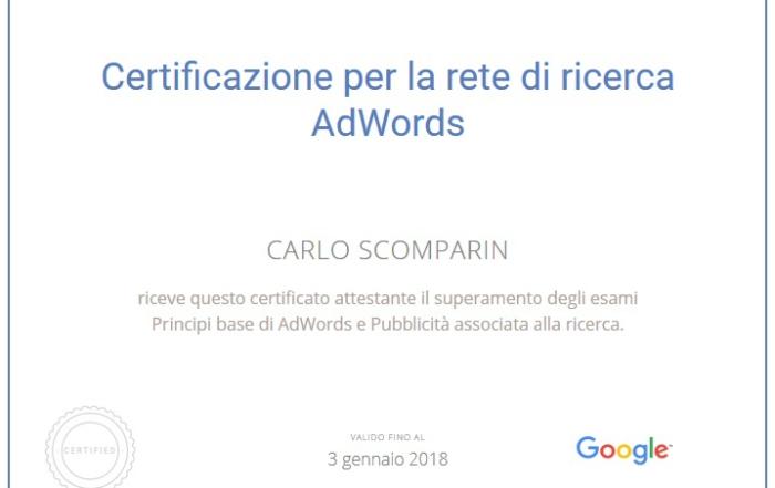 Ho preso tutte le certificazioni Google possibili