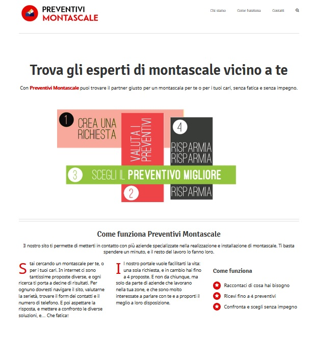 screenshot preventivi montascale